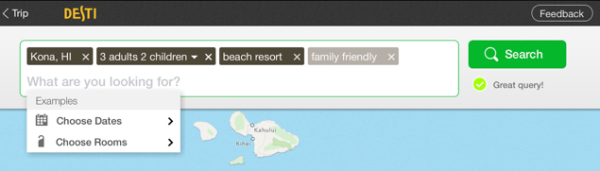 Desti Natural Language Search UI
